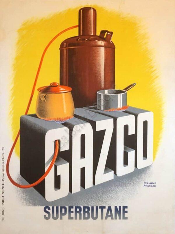 Gazco Superbutane Vintage Posters