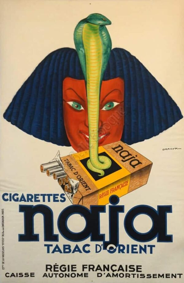 Cigarettes Naja Tabac D'Orient Vintage Posters