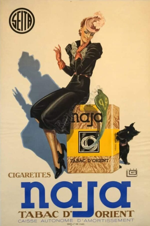 Cigarettes Naja Vintage Posters