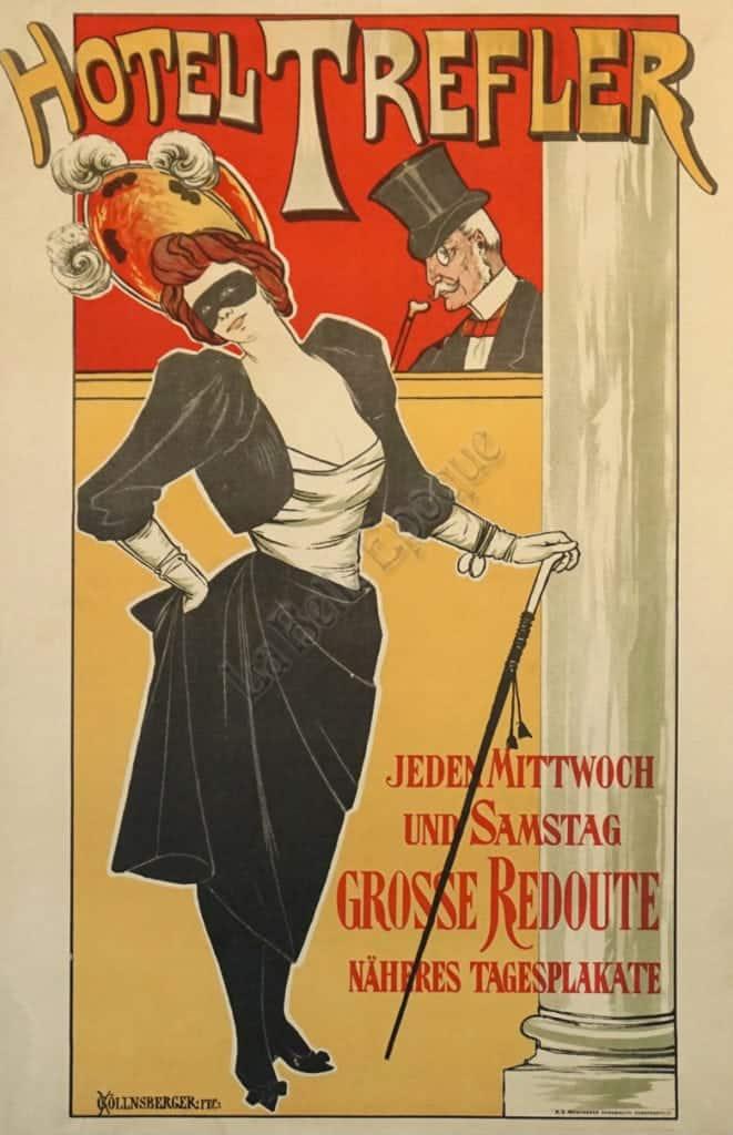 Hotel Trefler Vintage Posters