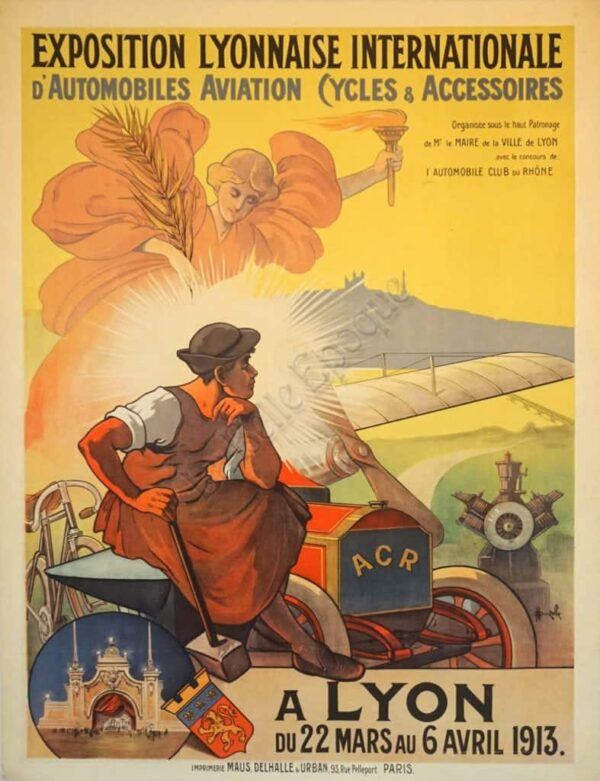 Exposition Lyonnaise Internationale Vintage Posters