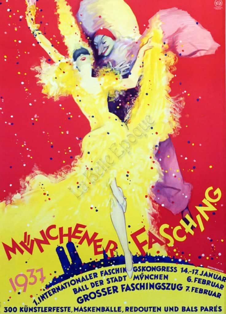 Munchener Fasching Vintage Posters