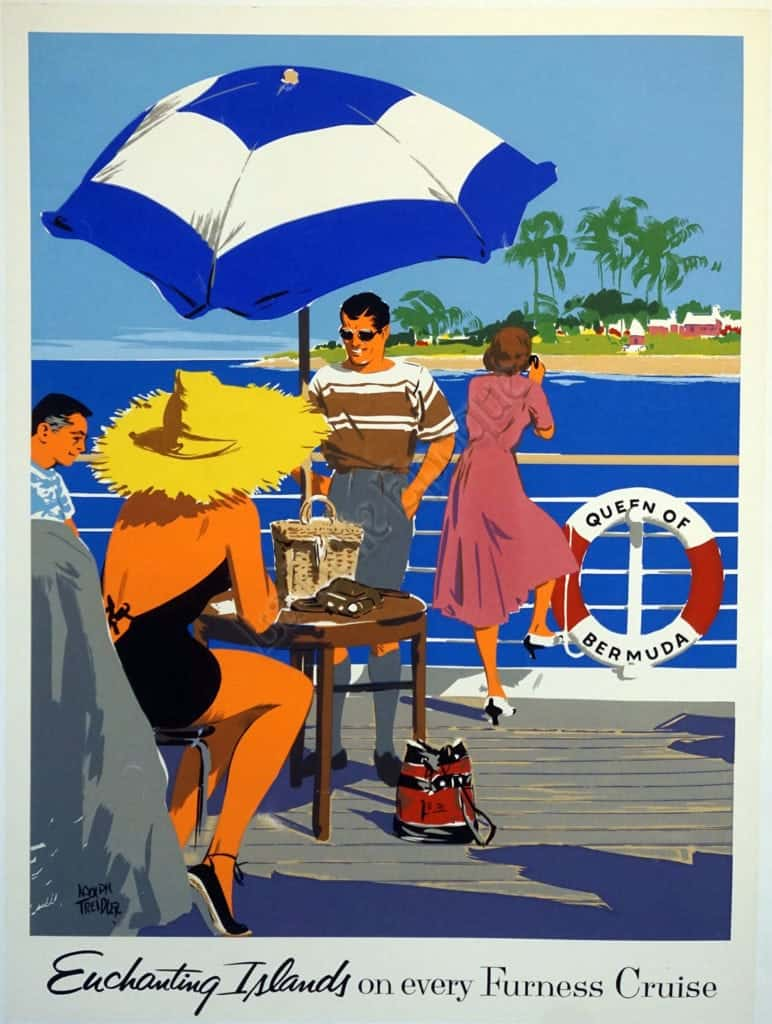 Enchanting on every Furness Cruise Vintage Posters