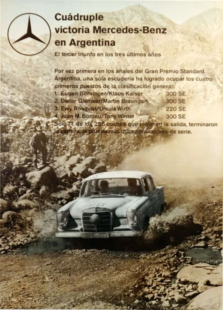 Cuadruple Mercedes Benz Vintage Posters