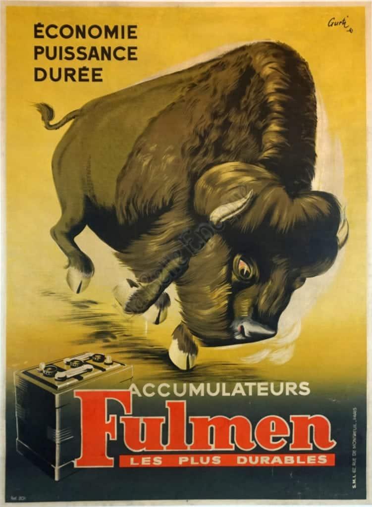 Economie Puissance Duree Fulmen Vintage posters