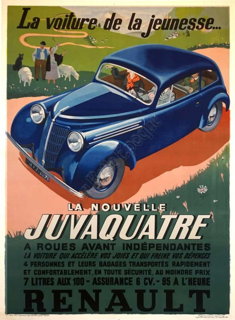 La Nouvelle Juvaquatre Vintage Posters