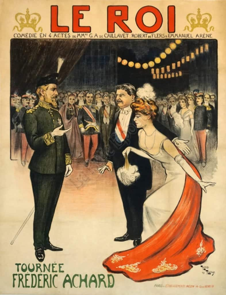 Le Roi Tournee Frederic Achard Vintage Posters