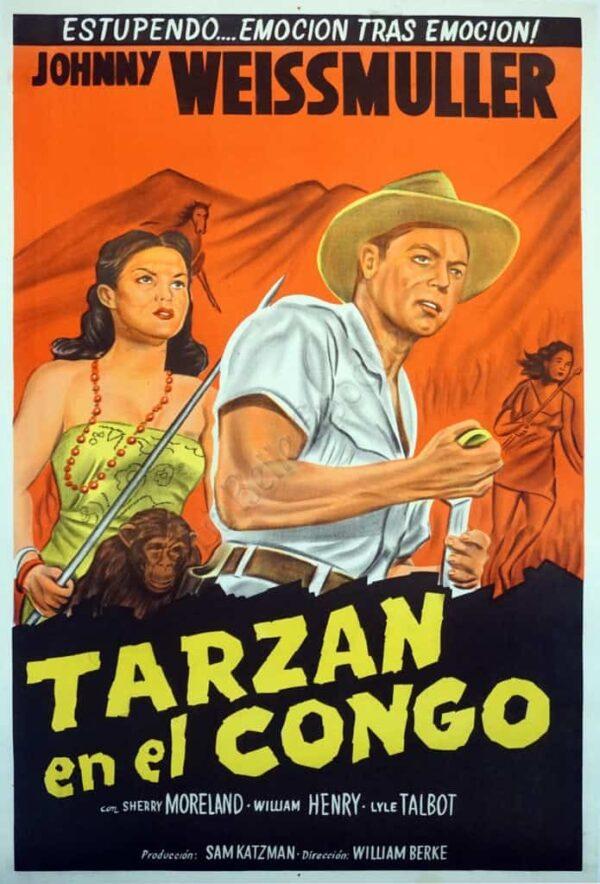 Johnny Weissmuller Tarzan en el Congo