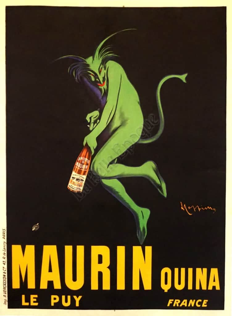French Art Deco Vintage Liquor Poster 'Maurin Quina' by Leonetto Cappiello,  1906 | Vintage Posters by La Belle Epoque | Vintage Posters in NYC