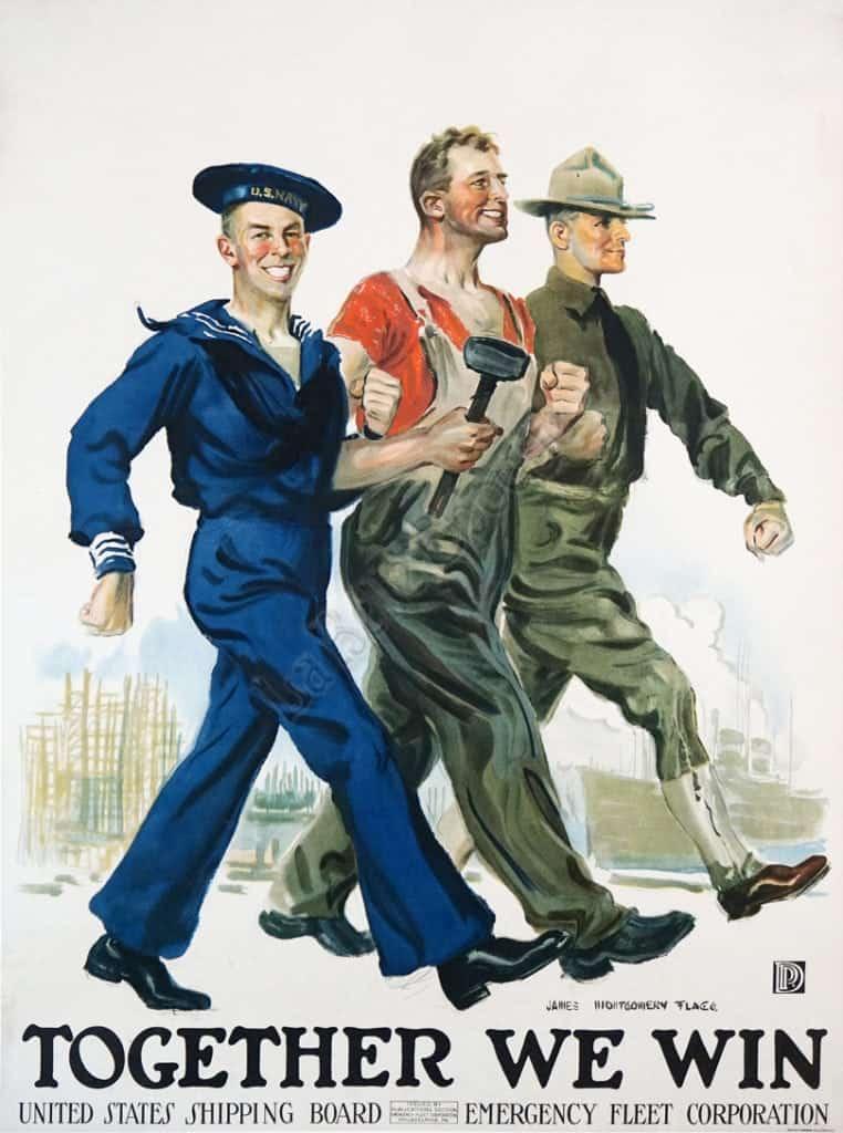 Together We Win Vintage Posters