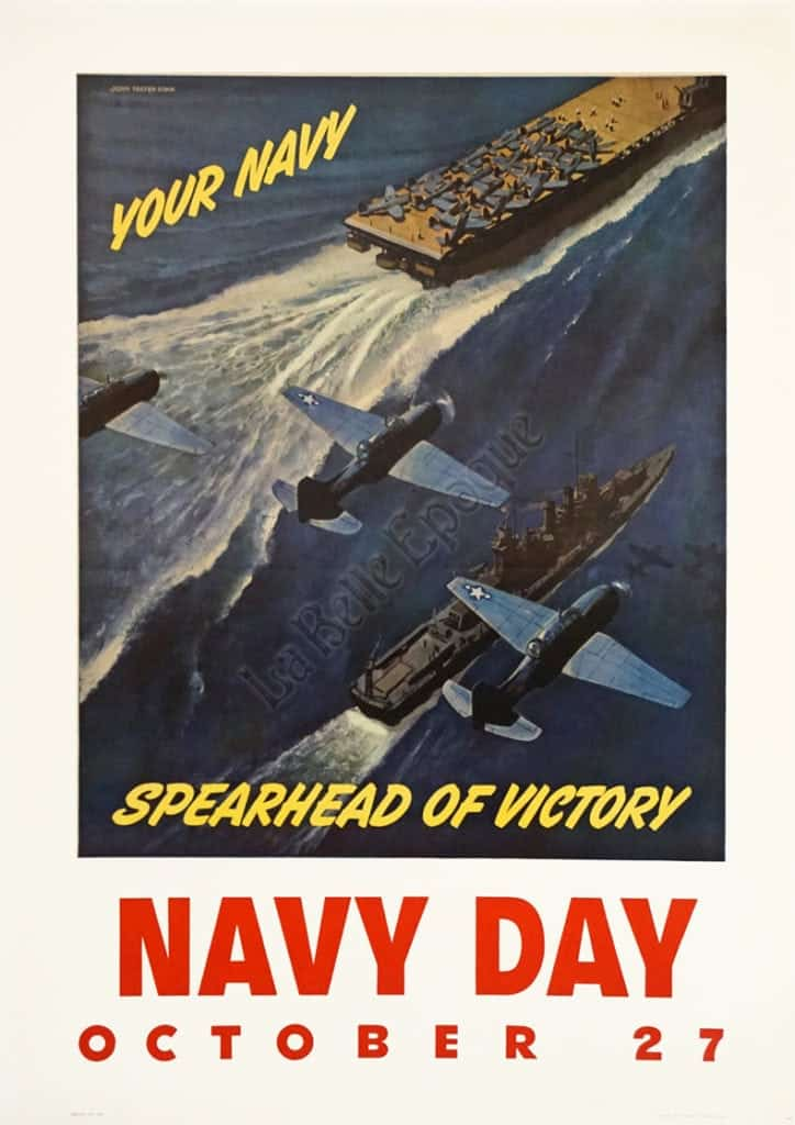 Navy Day October 27 Vintage Posters