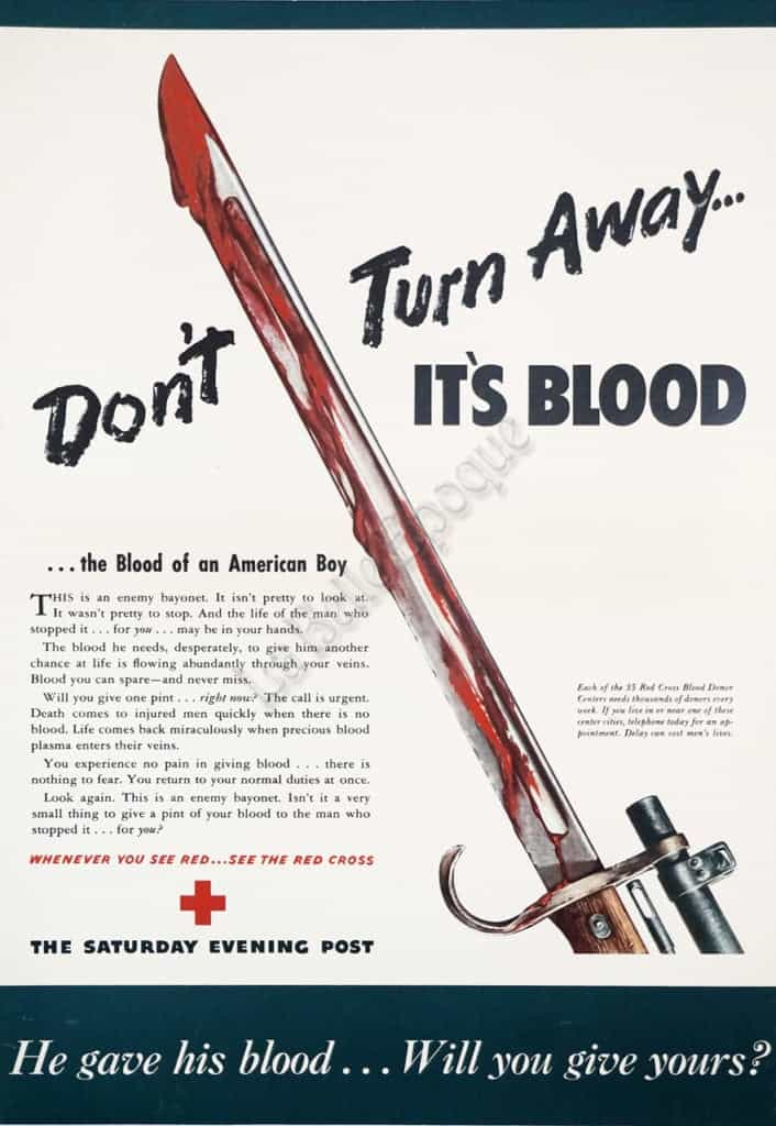Don't Turn Away... It's Blood Vintage Posters
