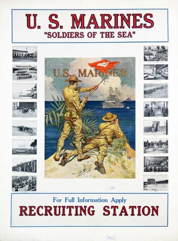 "U.S. Marines ""Soldiers of the Sea"" Vintage Posters"