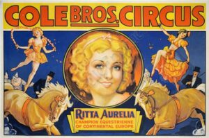 Cole Bros Circus Vintage Posters