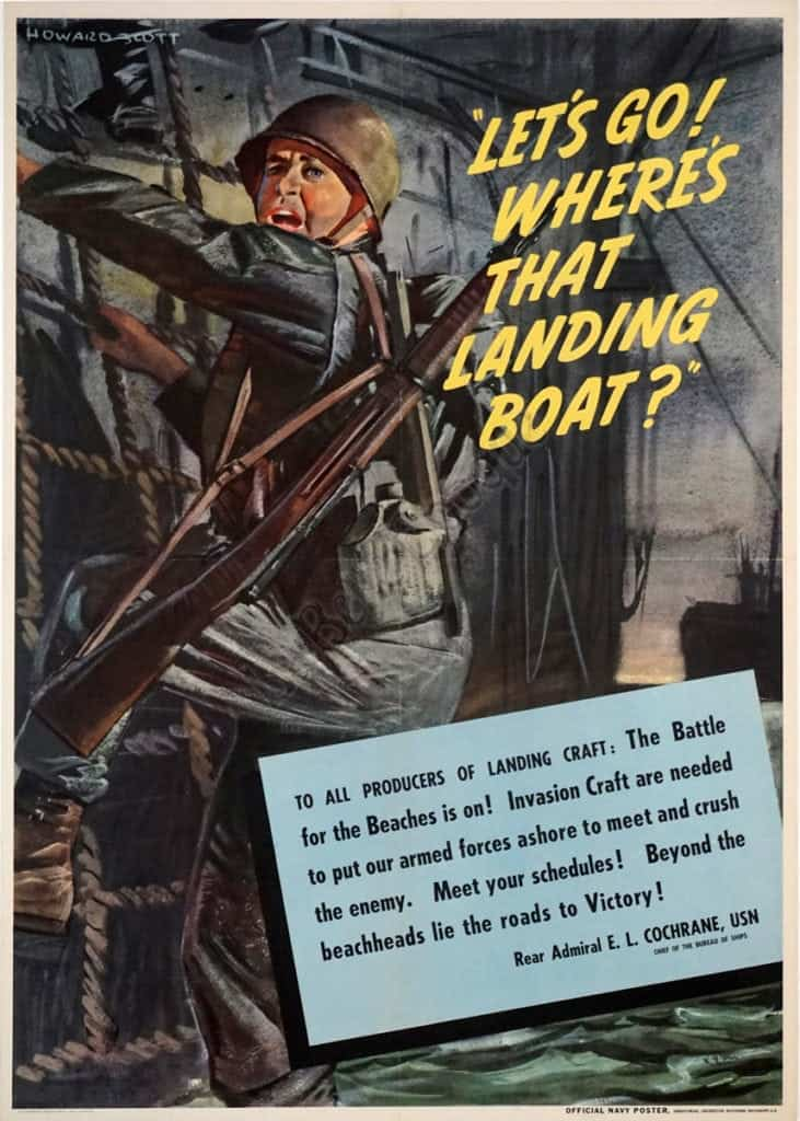 Let's Go! Where's That Landing Boat? Vintage Posters