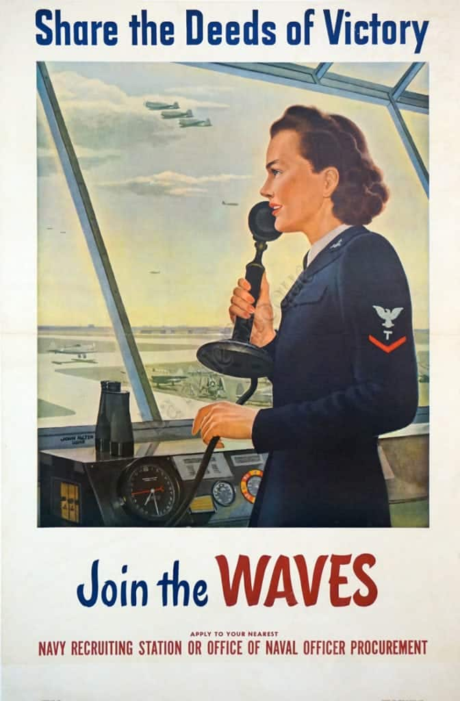Share the Deeds of Victory Join the WAVES Vintage Posters