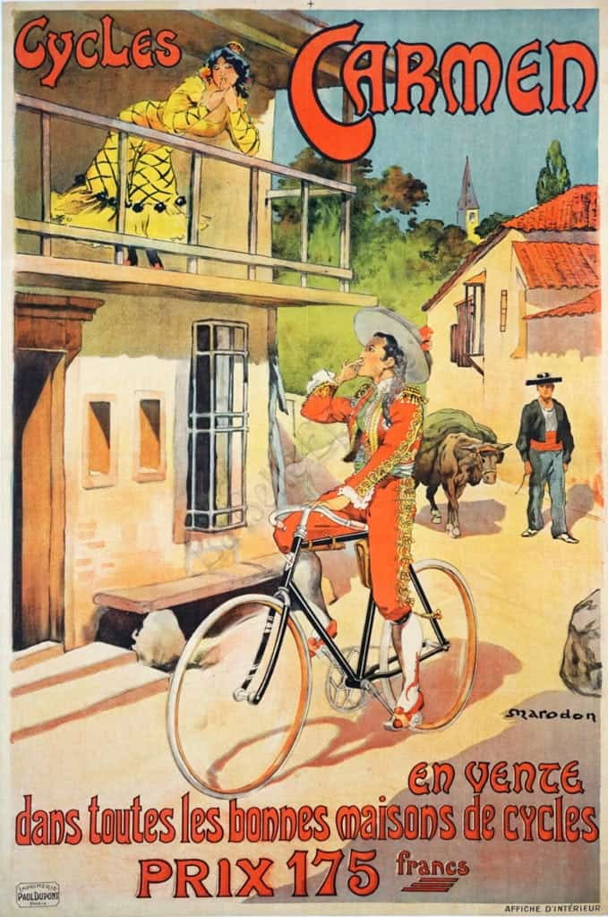 Cycles Carmen Vintage Posters