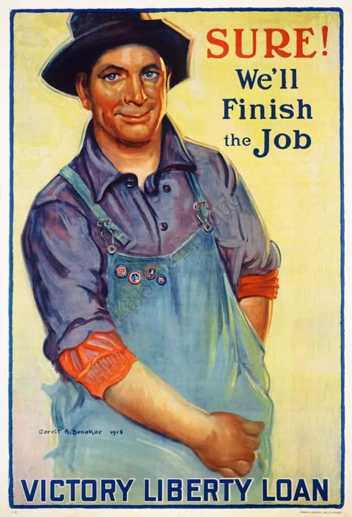Sure! We'll Finish the Job Victory Liberty Loan Vintage Posters