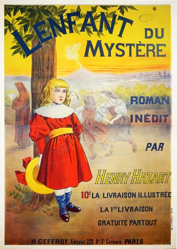 Lenfant du Mystere Roman Inedit Vintage Posters