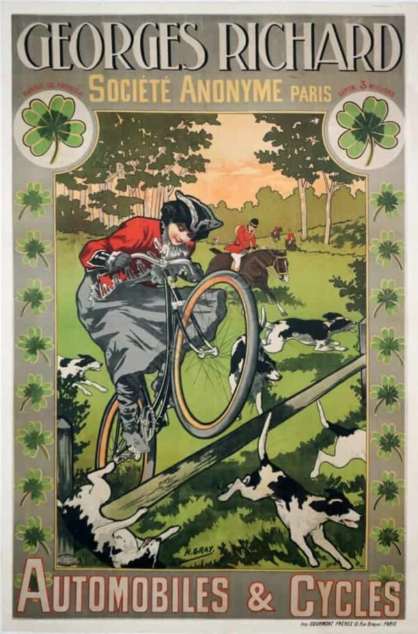 Georges Richard Automobiles & Cycles Vintage Posters