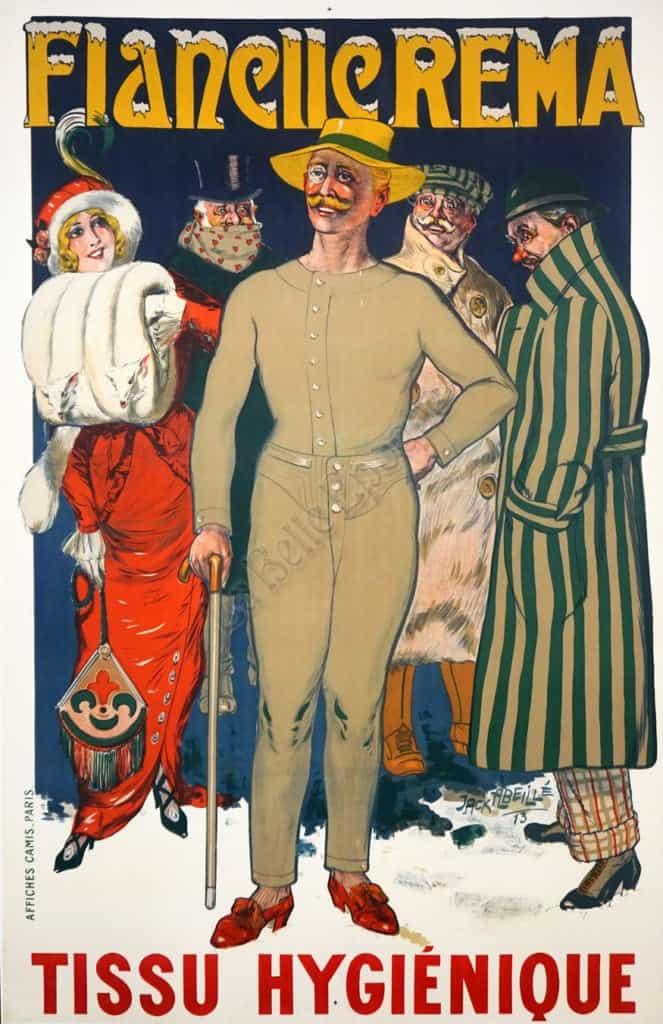 Flanelle Rema Tissu Hygienique Vintage Posters