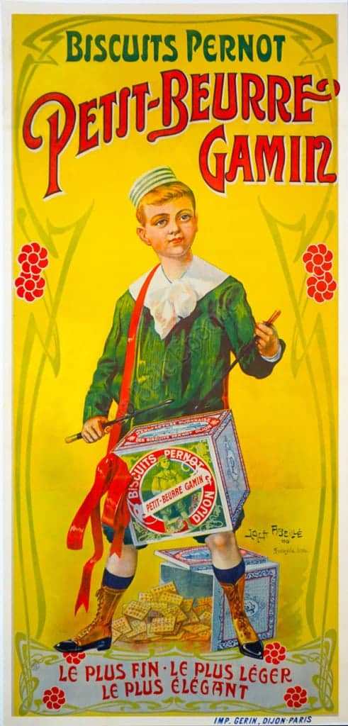 Biscuits Pernot Petit-Beurre Gamin Vintage Posters
