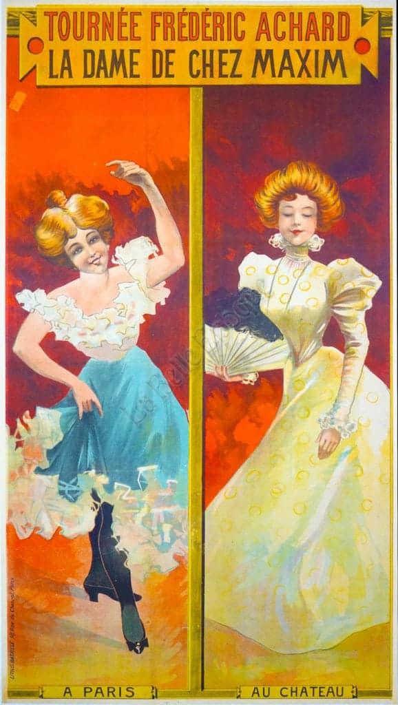 Tournee Frederic Achard La Dame De Chez Maxim Vintage Posters