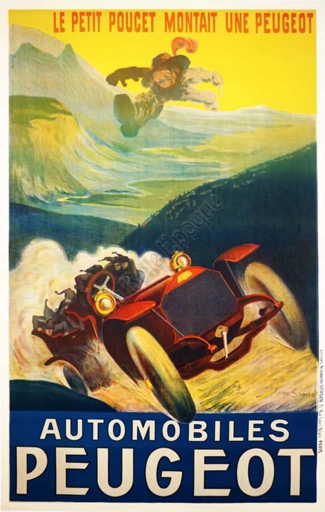 Automobiles Peugeot Vintage Posters