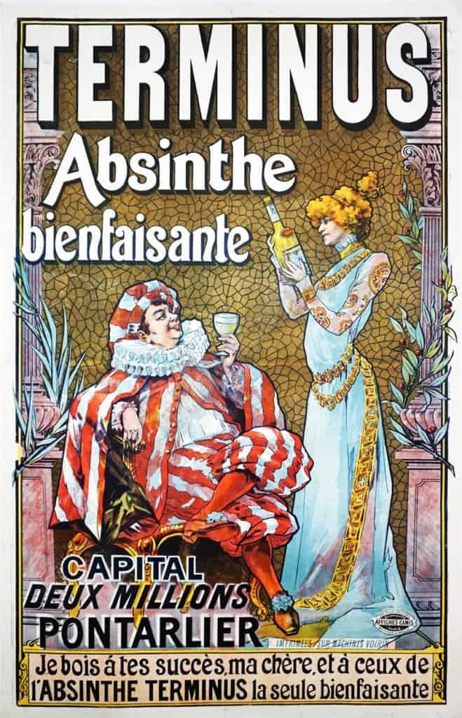 Terminus Absinthe bienfaisante Vintage Posters