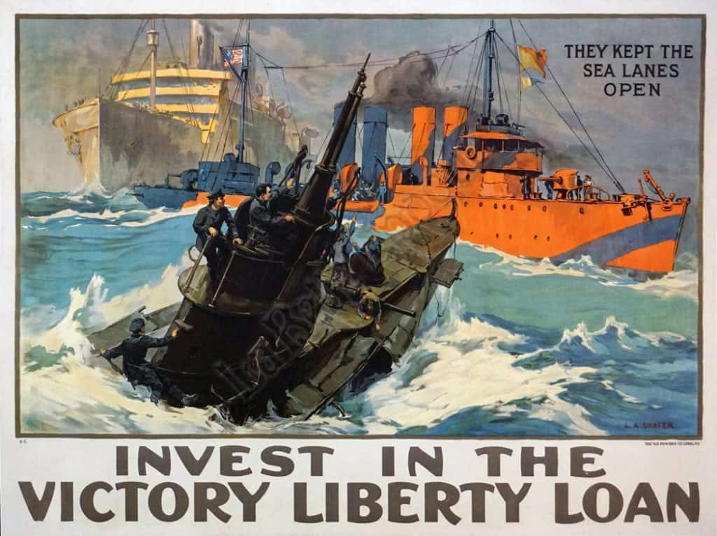 Invest in the victory liberty loan Vintage Posters