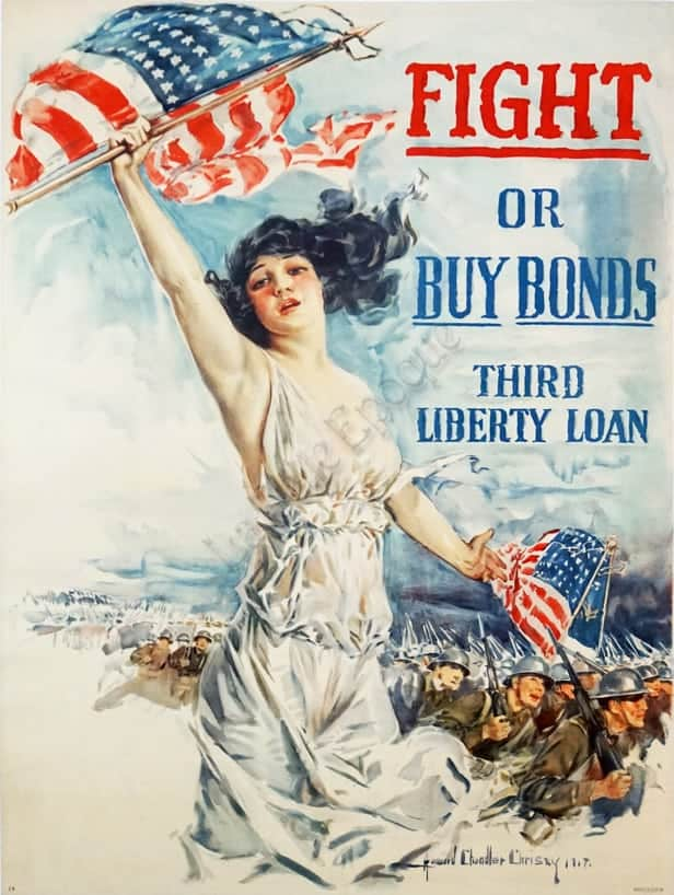 Fight or Buy Bonds Third Liberty Loan Vintage Posters