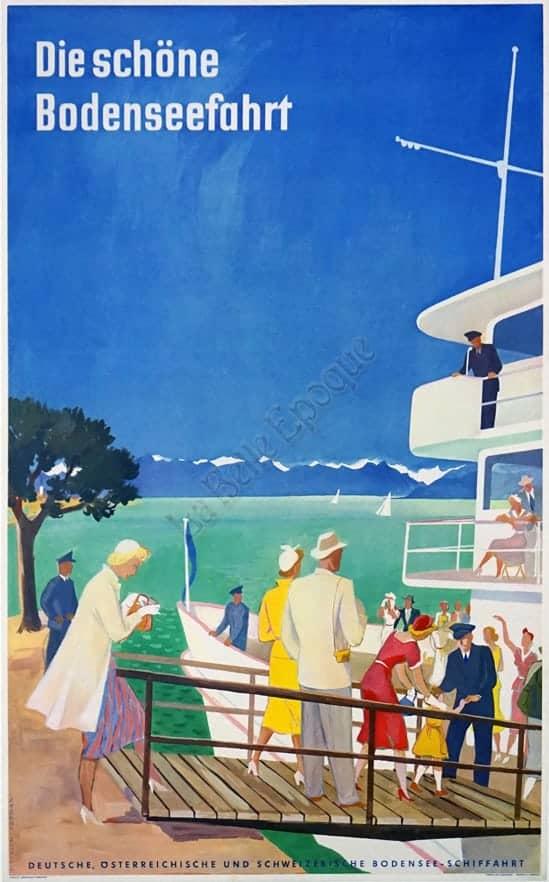 Die Schone Bodenseefahrt Vintage Posters