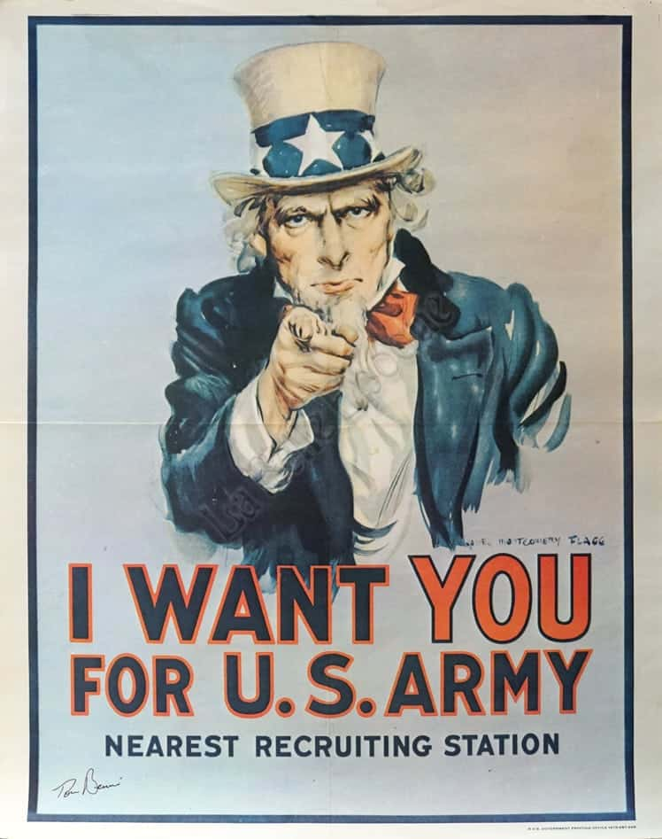 Wall art. Vintage  recruitment  Reproduction poster Why not join the Army 2