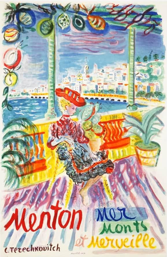 Menton Mer Monts et Merveille Vintage Posters
