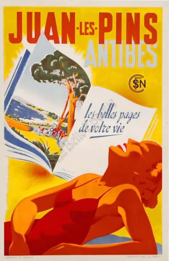 Juan les Pins Antibes Vintage Posters