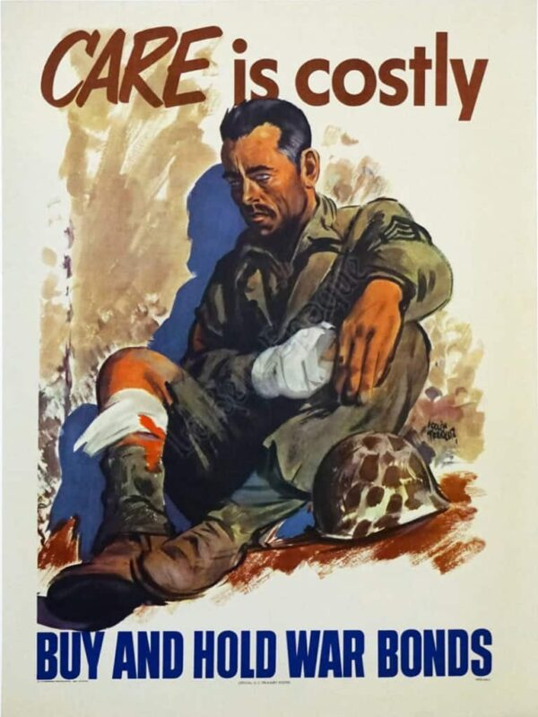 Care is costly buy and hold war bonds Vintage Posters