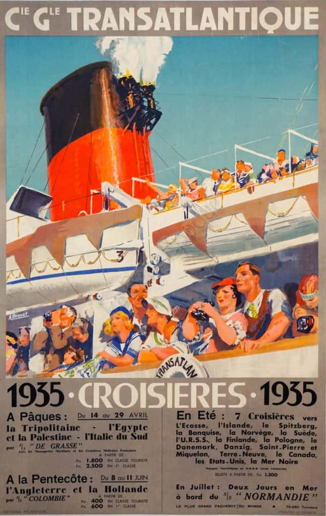 Cie Gle Transatlantique 1935 Croisieres