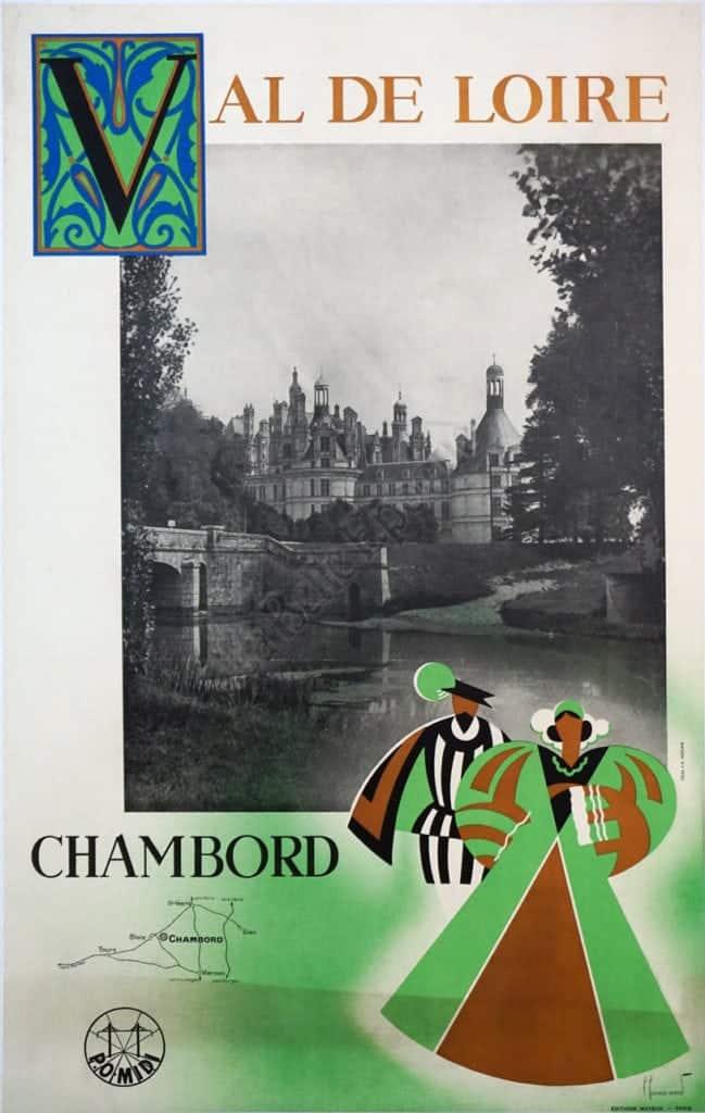 Val De Loire Chambord Vintage Posters