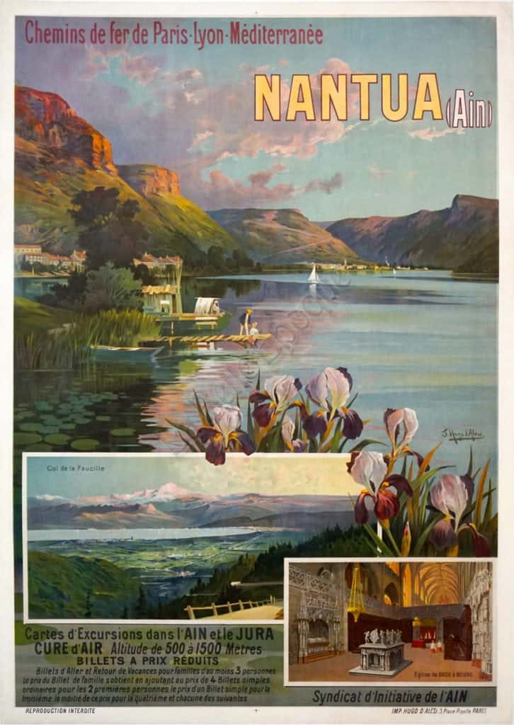 French Art Nouveau PLM Travel Poster 'Nantua' by d'Alesi ...