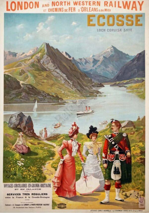 Ecosse Loch Coruisk Skye Vintage Posters
