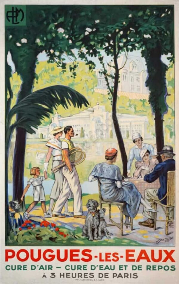 Pougues Les Eaux Vintage Posters