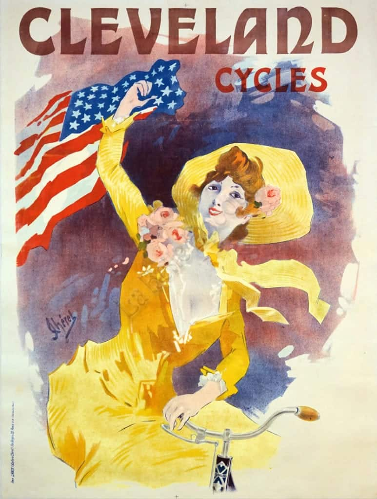 French Vintage Bicycle Advertising Poster 'Cleveland ...