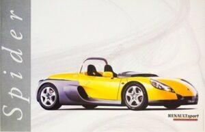 Renault Sport Spider Vintage Poster
