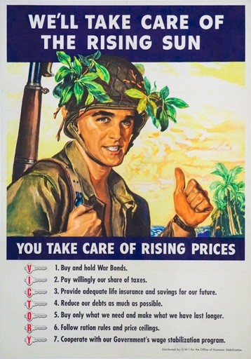 We'll Take Care of the Rising Sun Vintage Posters