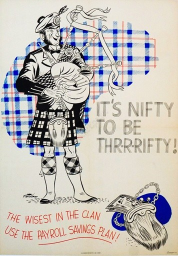 It's Nifty to be Thrrrifty! Vintage Poster