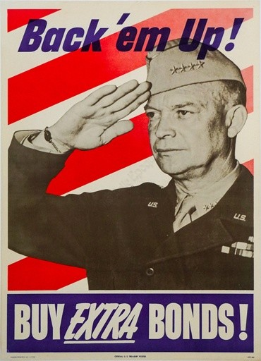 Buy Extra Bonds! Vintage Poster