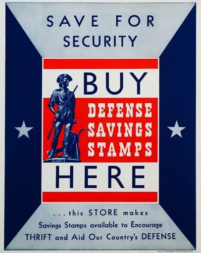 Save for Security Buy Defense Savings Stamps Here