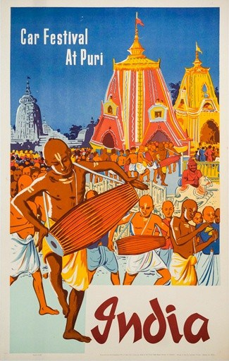 India Vintage Poster