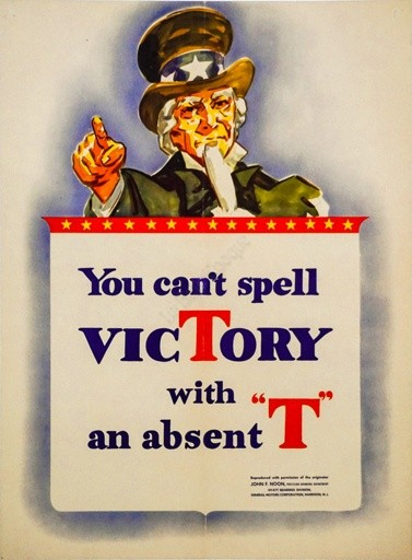 You Cant Spell Victory with an absent T