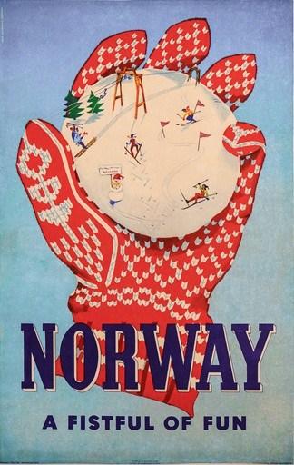 Norway Vintage Poster
